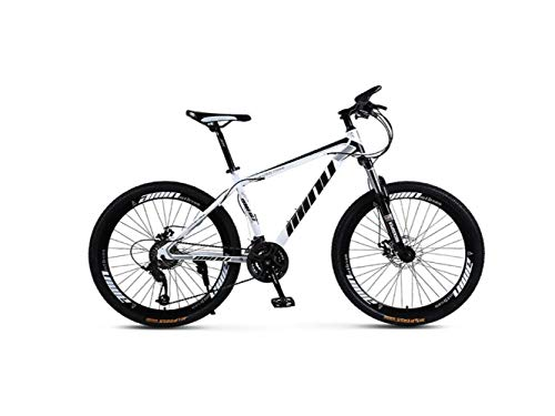 Bicicleta de Montaña Unisex Hardtail Bastidor de Acero de Alto Carbono Bicicleta Mtb de 26 Pulgadas Bicicleta de Montaña 21/24/27/30 Velocidades con Frenos de Disco Y Horquilla de Suspensión