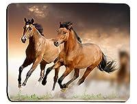 ランニング馬マウスパッドおしゃれ耐久滑り防止馬動物ギャロッピング馬長方形滑り止めラバーマウスパッドおしゃれ耐久滑り防止