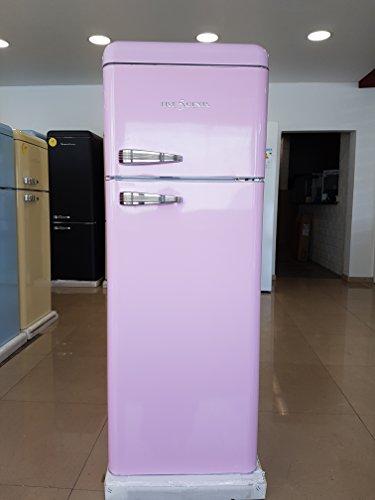 FIVE5Cents G215/Schaub Lorenz SL 208/Kühlgefrierkombination/Pink/Retro/Kühlschrank/KÜHL-GEFRIERKOMBINATION/Rippenlos