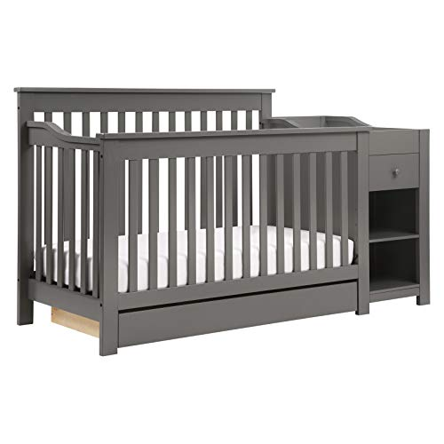DaVinci Piedmont 4-in-1 Crib and Changer Combo in Slate, Greenguard Gold Certified