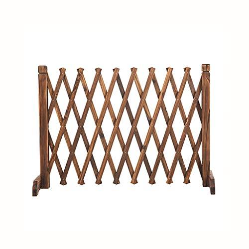 QBZS-YJ Carbonized Korrosionsschutz Holz Zaun Zaun Außengartenzaun im Freien Garten-Trennwand Zaun Klettern Rattan Rahmen Dog Fence Frei Retractable