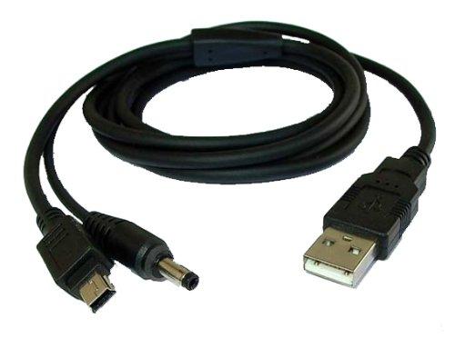 Spartechnik USB Sync- & Ladekabel - Datenkabel mit Ladefunktion für Palmone Palm Tungsten E Zire 31 72 & Garmin iQue