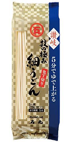石丸製麺 技の極み讃岐細うどん 包丁切り 270g×12袋入