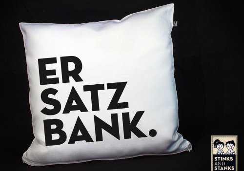 Kissen Ersatzbank Fussball KS040