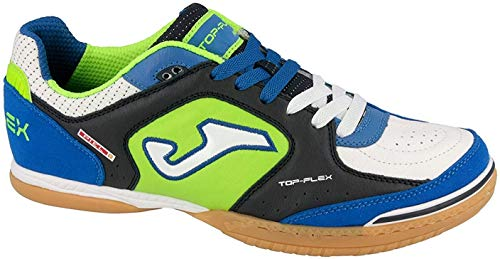 JOMA Top Flex Scarpe da calcetto Unisex - Adulto, Blu (Navy-white), 44 EU