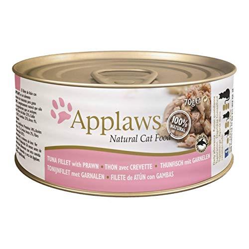 Applaws Lata con Filete de Atun y Gambas para Gato