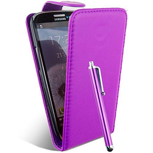 Accessory Master - Custodia in Pelle per Samsung Galaxy Ace s5830, Colore: Viola