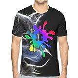 Weerbar Autism Rainbow Puzzle Splatter Camiseta de Manga Corta para Hombre Camiseta Estampada en 3D Camisetas gráficas Camiseta clásica con Cuello Redondo para Hombre