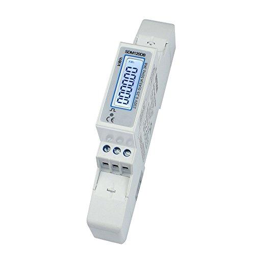 SDM120DB - digitaler LCD Wechselstromzähler mit hinterleuchtetem Display für Hutschiene mit S0