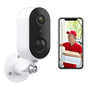 Wireless Rechargeable Battery Powered WiFi Camera, Home Security Camera Arenti GO1, Night Vision, Indoor/Outdoor, 1080P Video with Motion Detection, 2-Way Audio, Waterproof (GO1)