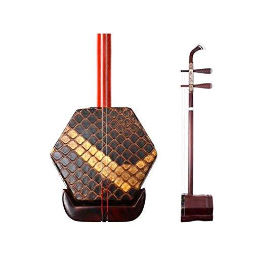 Erhu, Palisander Erhu, Afrikanische Leaflet Palisander Handgemachte Professionelle Musikinstrument, Mahagoni Universal-Prüfung Erhu Instrument, (ganze Reihe von Zubehör) (Farbe: Palisander) DUZG