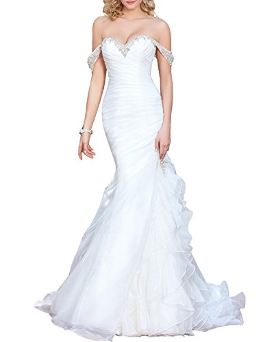 Top 10 Best Off the Shoulder Organza Sleeves Wedding Dress Comparison