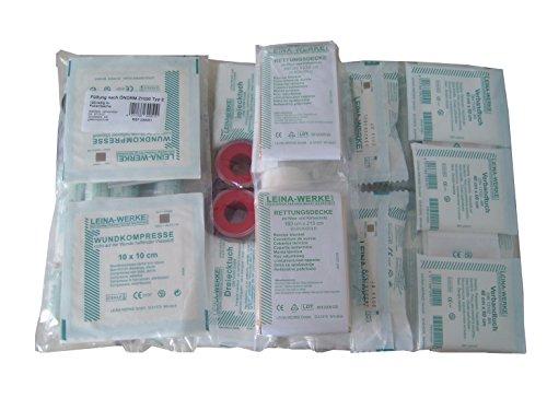 LEINAWERKE 39002 Erste Hilfe Füllung ÖNORM Z 1020 Typ II in Folientasche 1 Stk.