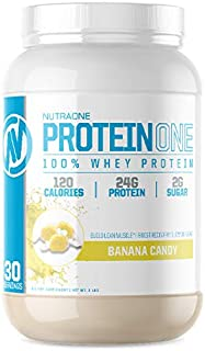 ProteinOne Low Carb Whey Protein by NutraOne —Weight Loss and Build Muscle with a Low Carb Protein Shake Powder for Men & ...