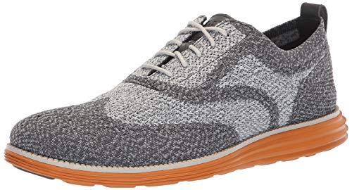 Cole Haan Men's Original Grand Knit Wing TIP II Sneaker, Magnet/Golden Oak, 10.5 M US