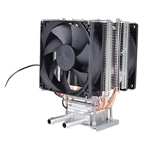 Sistema de enfriamiento de refrigeración termoeléctrico Peltier de 12V 9A, dispositivo de enfriamiento del sistema de enfriamiento de agua de bricolaje con ventilador, para pecera, enfriamiento de agu