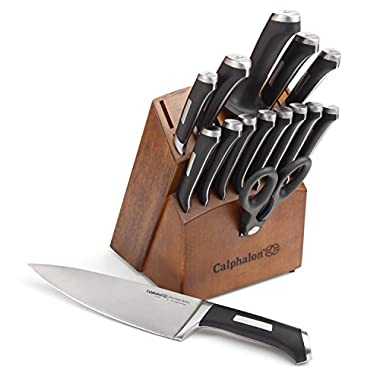 Calphalon 1834745  Precision Series 16-Piece Cutlery Set with Wood Knife Block