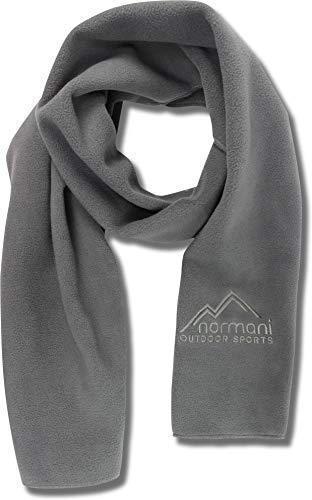 normani Fleece Winterschal Scarf, 160 cm x 25 cm, für Outdoor und Freizeit Farbe Grau