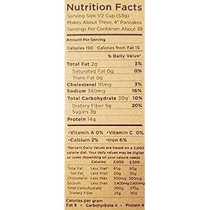 Kodiak Cakes Power Cakes: Flapjack and Waffle Mix Whole Grain Buttermilk Net Wt. 4.5 lbs (Three 24 Ounce Pouches)