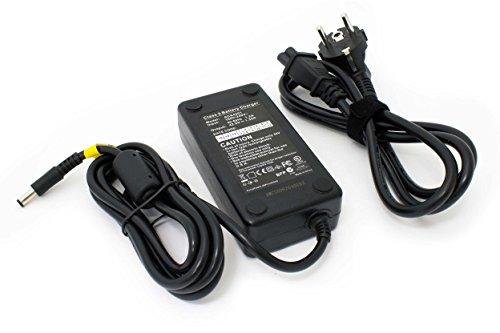 vhbw Ladegerät kompatibel mit Aldi Prophete Alu Trekking E-Bike, Elektrofahrrad - Für Li-Ion Akkus mit 36 V Spannung, mit Rundstecker-Anschluss