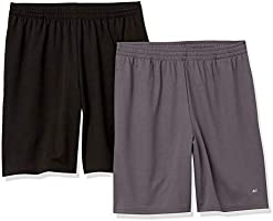 Amazon Essentials mens (2)-pack Performance Mesh Short Short