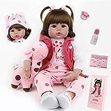 ZIYIUI Reborn Baby Doll Simulación Vinilo De Silicona Realista Realista Princesa Cabello Largo Y Rubio, 24 Pulgadas 61 Cm Juguete Realista Regalo De Cumpleaños para Niños