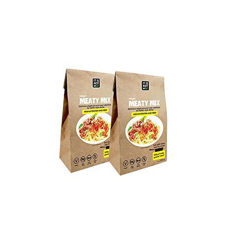 Mezcla de Carne Vegana Instantánea Perfecto para cocinar 200g | proteína de soja | Vegano | 100{5fdaf355d502a1439ce7aa80fa056229dd7b94e18038428aefdf43ce8867f076} Sin Gluten (Pack de 2)
