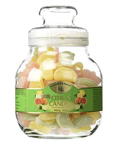 Cavendish & Harvey Citrus Selection Candies Jar Fruit Candies 1 X 966g Sweet Gift