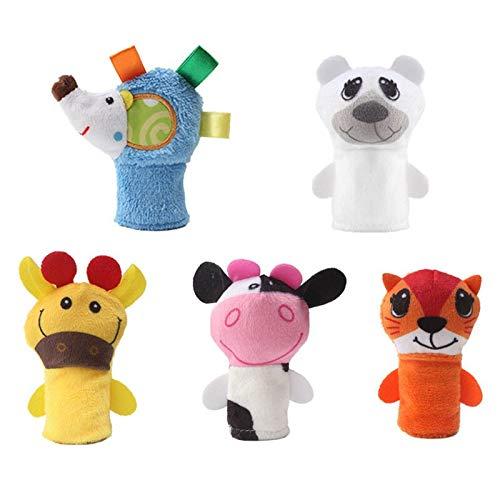 YDOZ Juguetes 5pcs Puppets Suaves Mano Juguetes educativos Regalo para niños M09 (Color : Hedgehog)