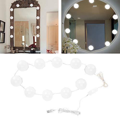 Qkiss 10 Glühbirnen Vanity LED Makeup Spiegel Lichter Dimmbare Glühbirne einstellbar warme kalte Töne Lichterkette