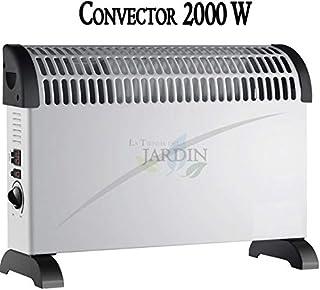 CONVECTOR CALEFACTOR blanco 750W-1250W-2000W con turbo ventilador y termostato regulable
