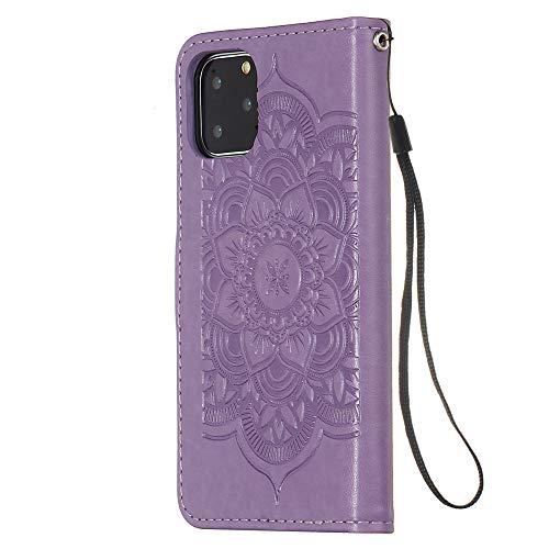 FAWUMAN Funda iPhone 11 Pro (5.8inch),Funda Piel PU,Soporte Plegable,Ranuras para Tarjetas y...