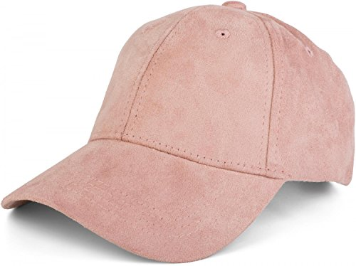 styleBREAKER 6-Panel Cap in Veloursleder, Wildleder Optik, Baseball Cap, verstellbar, Unisex 04023049, Farbe:Rose