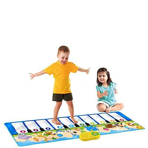 X&JJ Couverture de Musique Animale, Clavier de Piano Portable Tapis de Jeu Tapis de Lecture Tapis de Couverture de Musique pour garçons Filles bébé éducation précoce