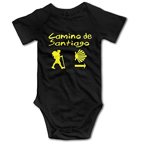 HleHjum Camino De Santiago Compostela - Mameluco de manga corta para bebé