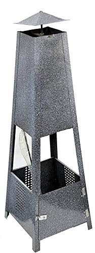 OTZ Chiminea Outdoor Fire pit Log burner Heater 100cm x 30cm x30cm Fully assembled. Heat Resistant Up to 750°C
