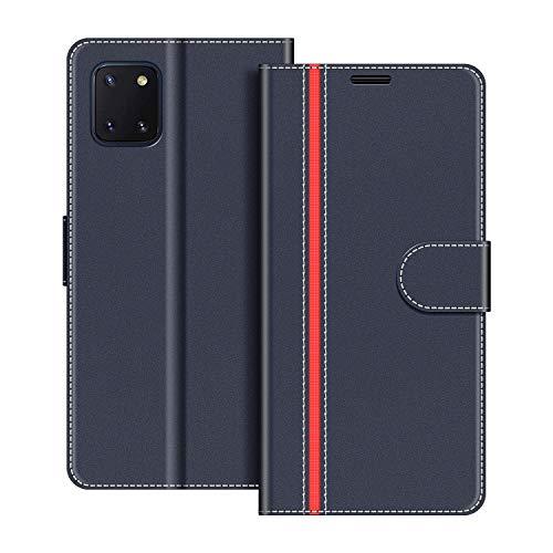 COODIO Handyhülle für Samsung Galaxy Note 10 Lite Handy Hülle, Samsung Galaxy Note 10 Lite Hülle Leder Handytasche für Samsung Galaxy Note 10 Lite Klapphülle Tasche, Dunkel Blau/Rot