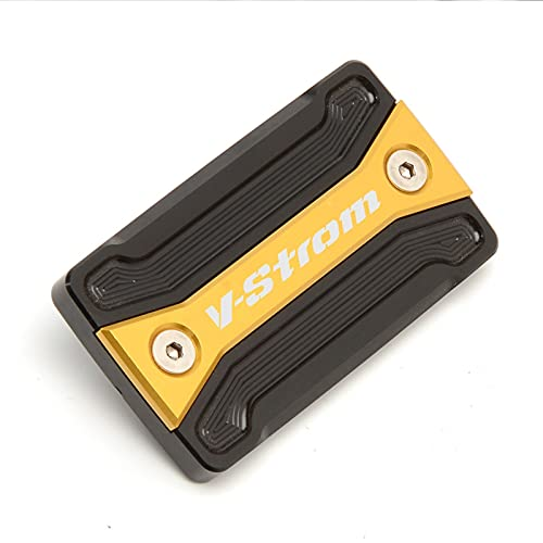 HDDTW Tapas De Gasolina Decorativas Más Calientes para Suzuki DL V-Strom VanVan XT SFV Series Piezas De Motocicleta CNC Tapa De Depósito De Freno Delantero Tapa De Cilindro De Fluido (Color : Oro)