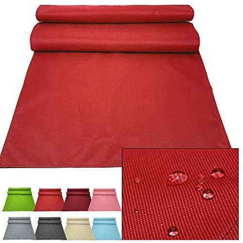 JEMIDI Outdoor Tischläufer 50x200cm Läufer Tischband wasserabweisend - Tischläufer Rot