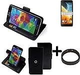 K-S-Trade® Hülle Schutz Hülle Für Energizer Power Max P490S + Bumper Handyhülle Flipcase Smartphone Cover Handy Schutz Tasche Walletcase Schwarz (1x)