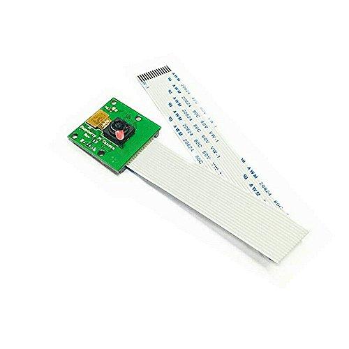 JZK Raspberry Pi Camera Module cámara Interfaz CSI 5 Millones píxeles Cable Suave 15 cm para Raspberry Pi 3b, Pi 2, Pi 1