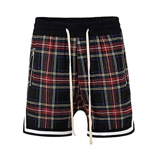 HANHOU Pantalones Cortos con Bolsillos, Retro, Deportes, Pantalones Cortos de Hip-Hop Casuales al Aire Libre A-M
