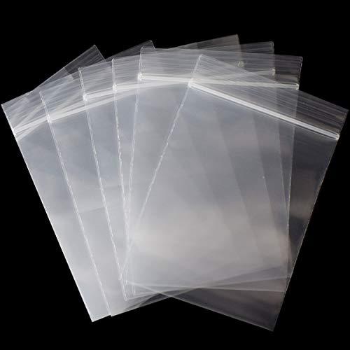 Gudotra 40 x 50cm Sacchetti Trasparenti Risigillabili con Chiusura a Cerniera Riutilizzabile Spesso Bustine Plastica per Alimentari Regalo (40x50cm, 20 Pezzi)
