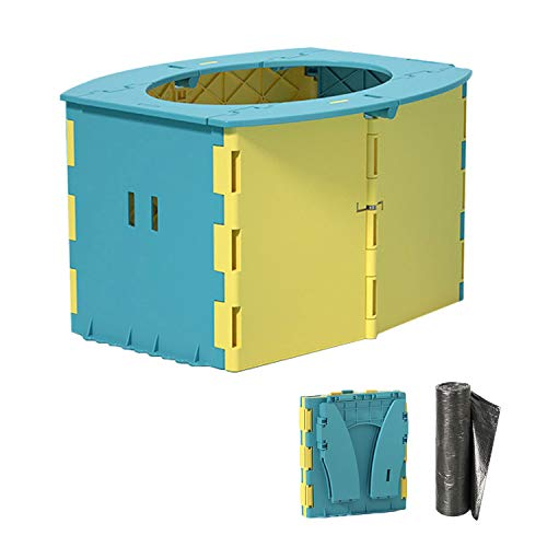ymmsuuie Travel Potty for Kids, Reusable Portable Folding Potty for Toddler, Travel Foldable Toilet for Travel Outdoor Camping, Toddler Potty Seat for Baby Potty Training (Yellow)