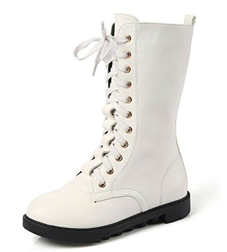 White Leather Kids Boots