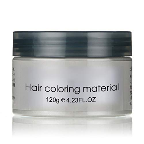 Sunsent 7 Colors Hair Care Hair Wax Matte Hairstyle Pomades (Grey)
