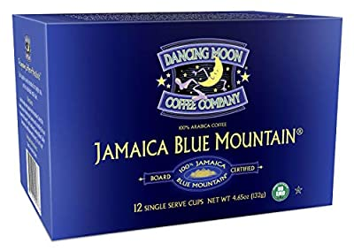 (2 Pack) Dancing Moon Coffee Co., Jamaica Blue Mountain Coffee Pods (100% Jamaica Blue Mountain, (2) 12 CT Boxes)