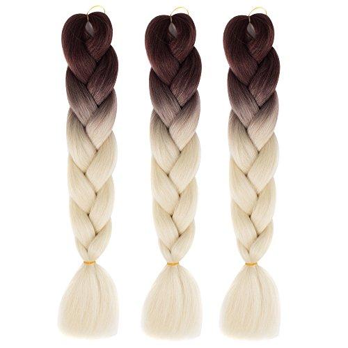Bai You Mei Jumbo Flechten Haarverlängerung Synthetische Flechten Haar 61 cm (24 Zoll), 41, Stück: 1