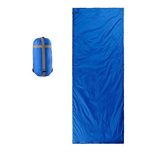Saco de Dormir Adulto Acampada, 190 * 75cm Se Convierte en Sacos Individuales, 3 Estaciones, para Camping, Excursiones y Actividades al Aire Libre,Extra-Large-Sky-Blue