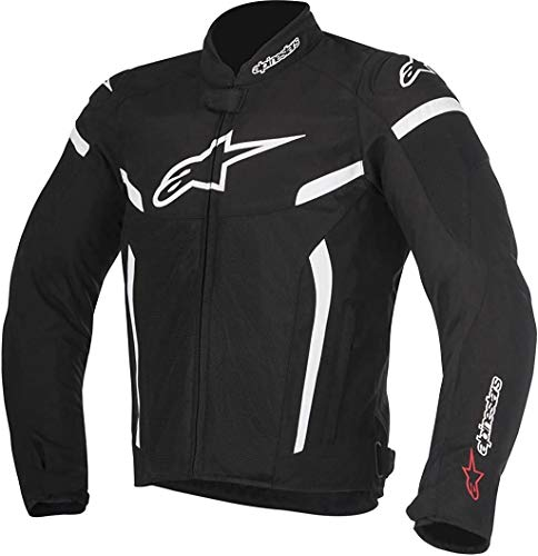 Alpinestars Men's T-GP Plus R V2 Air Motorcycle Jacket, Black/White, Small